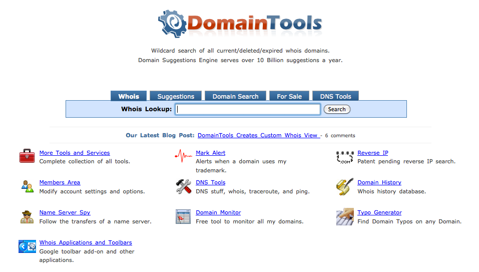 Domain-Tools-Whois-Lookup