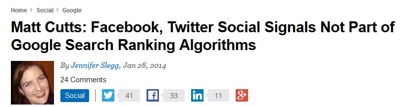 Matt Cutts_ Facebook, Twitter Social Signals Not Part of Google Search Ranking Algorithms