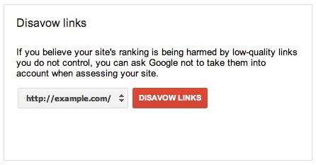 disavow link tool