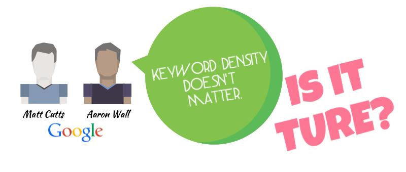 matt cutts on keyword density