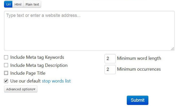 seobook keyword density tool