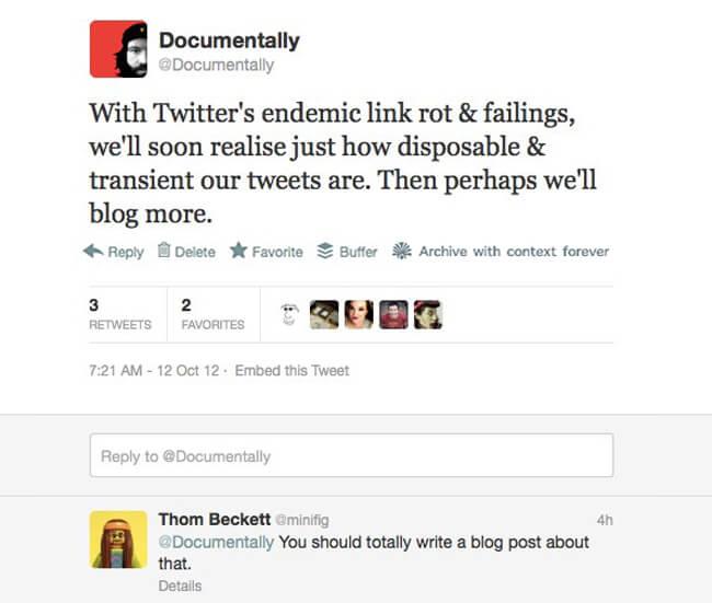 tweet-on-linkrot