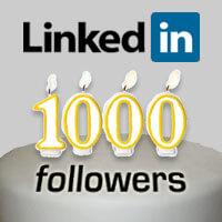 1000 linkedin followers