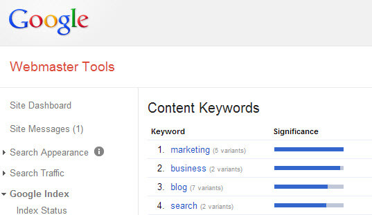 Content-Keywords-On-Google-Webmaster-Tools