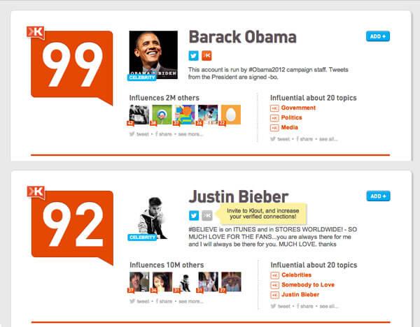 Barack-Obama-vs-Justin-Bieber-Klout-Score