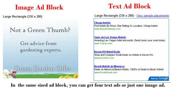 adsense banner ads vs text ads