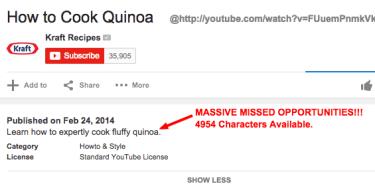 how to optimize youtube description