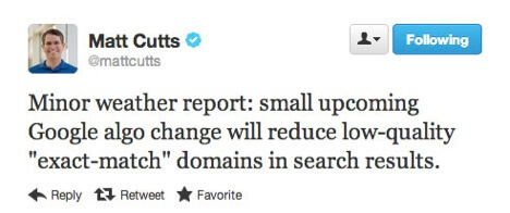 matt-cutts-exact-match-domain-algo-update-tweet